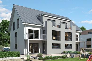 Massivhausbau Mehrfamilienhaus Satteldach