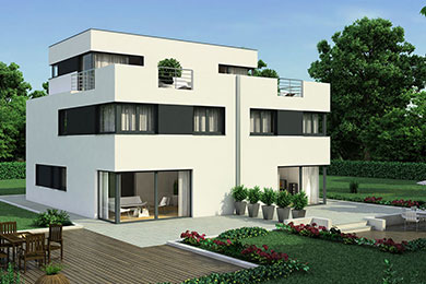 Favorit Massivhaus Bauhaus-Stil